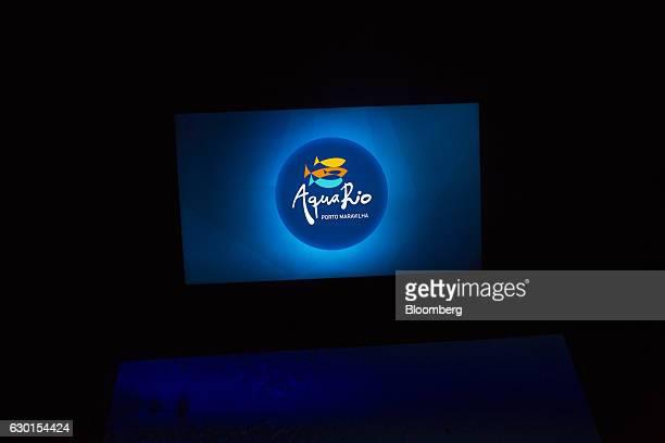 The AquaRio South America's largest aquarium logo is projected inside the company's facility in Rio de Janeiro Brazil on Saturday Dec 3 2016 AquaRio...