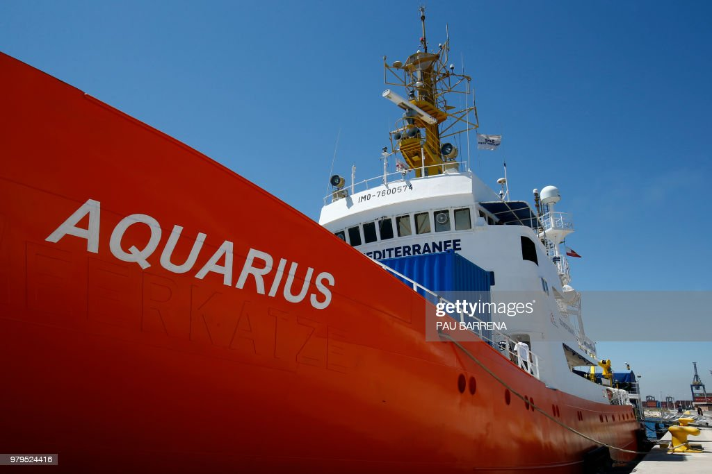 SPAIN-MIGRANTS-EU-AQUARIUS : News Photo