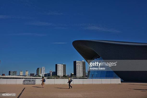 The Aquatic Centre in the Olympic Park in Stratford