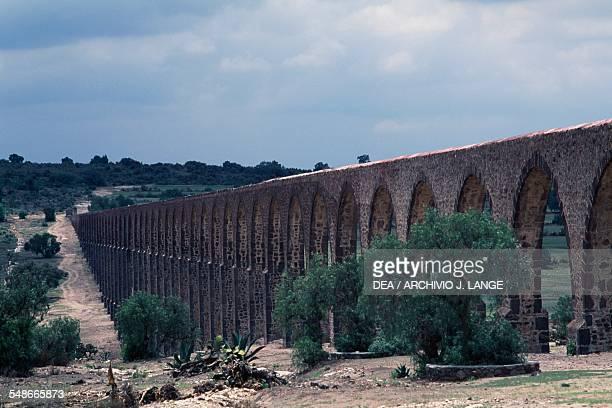 The aqueduct known as the Acueducto del Padre Tembleque Hidalgo Mexico 16th century