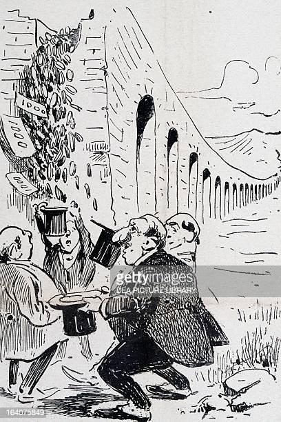 The aqueduct of Apulia Italy satirical cartoon from L'uomo di pietra magazine 4 June 1902 Italy 20th century Milan Biblioteca Comunale Centrale Di...