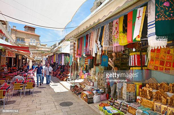 The Arab market of the old city Jerusalem, Israel