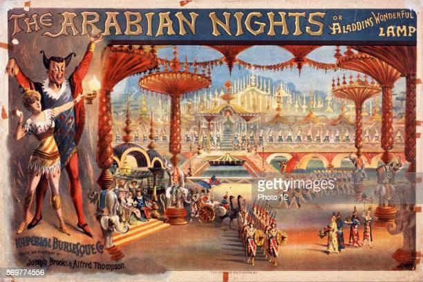 The Arabian nights or Aladdin's wonderful lamp Theatre poster for a spectacular burlesque production 1916