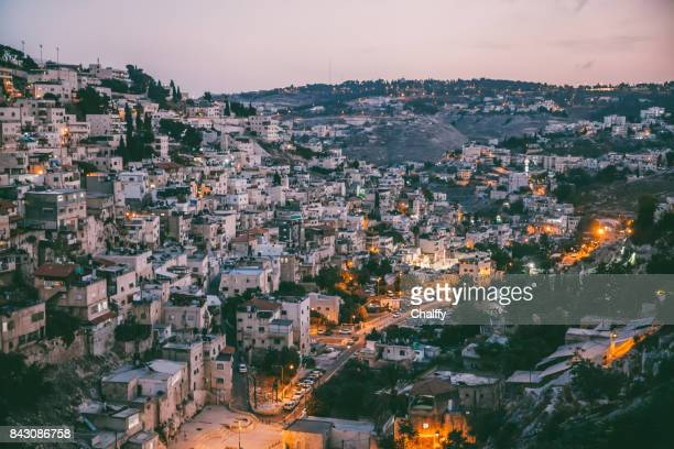 the arabic styled cityscape - east jerusalem stock pictures, royalty-free photos & images