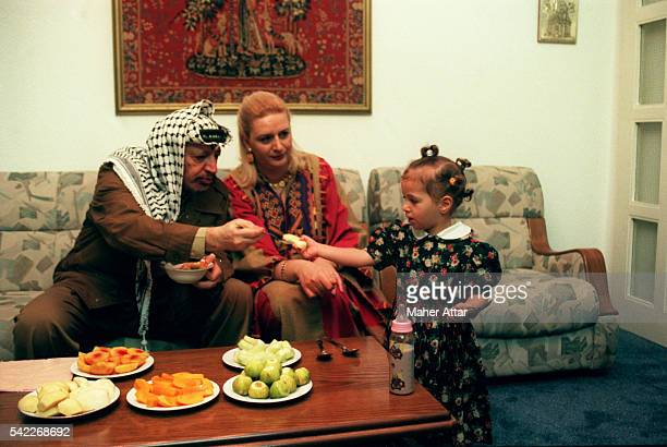 The Arafat family at home in Gaza City enjoying some fruit