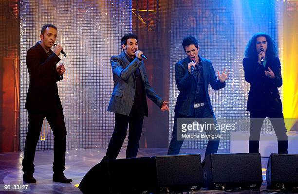 The Aram quartet during Scalo 76 Italian tv show on September 25 2008 in Milan Italy