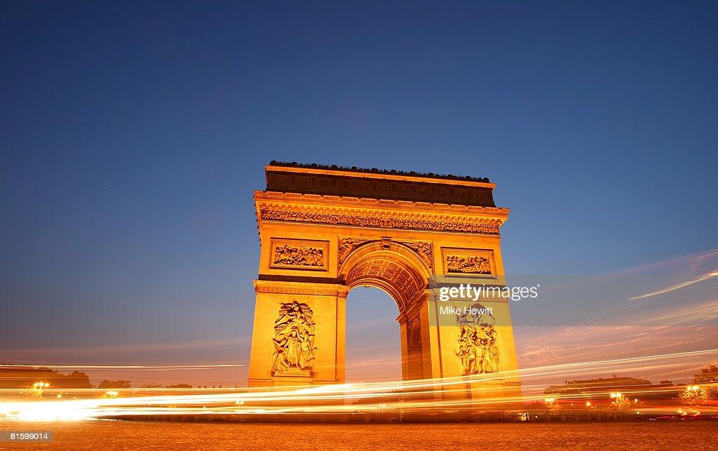 The Arc de Triomphe on June 9, 2008 in Paris, France.