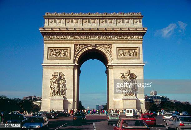 The Arc d'Triomph and the Etoille in Paris France