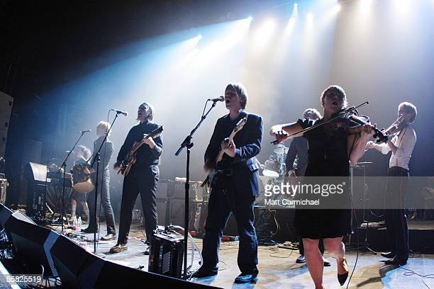 The Arcade Fire perform live in a headlining club show at the Riviera on September 28 in Chicago Illinois