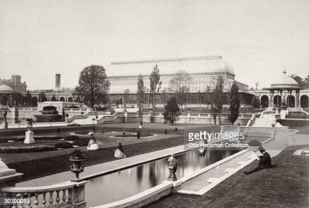 The Arcadian garden in South Kensington London part of an exhibition of the Royal Horticultural Society
