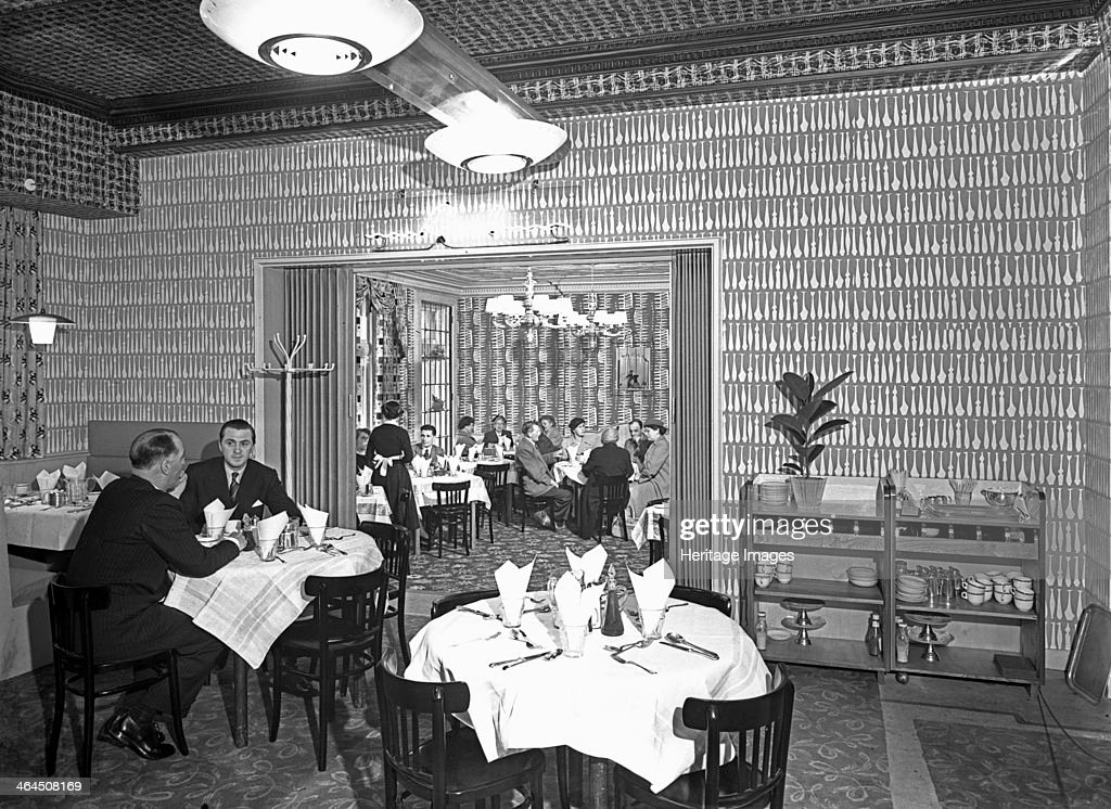 The Arcadian Restaurant with Art Deco wall covering, Barnsley Co-op ...