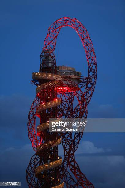 The ArcelorMittal Orbit at Olympic Park on August 2 2012 in London England