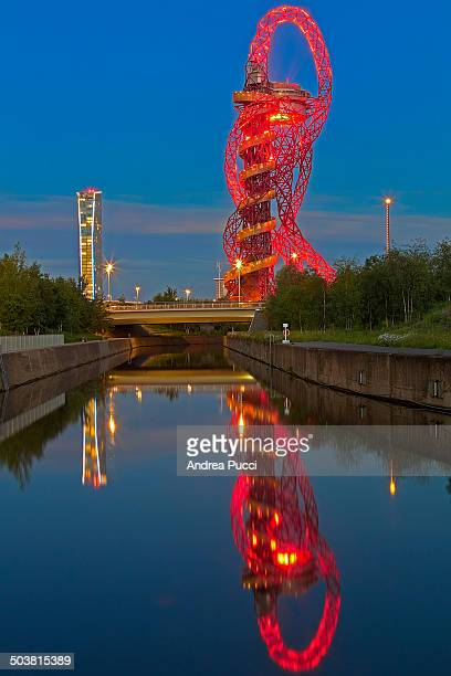 The ArcelorMittal Orbit is a 114.5 m tall sculpture in the Olympic Park in London. It is Britain's largest piece of public art.