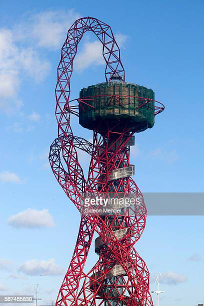 The ArcelorMittal Orbit tower the controversial tower and sculpture by Amish Kapoor at the centre of the Olympic site