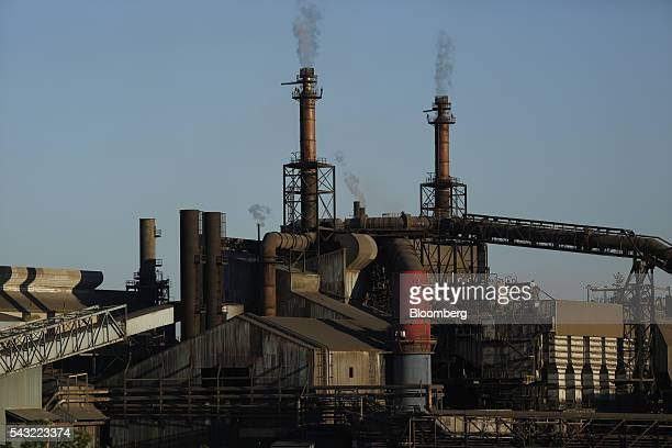 The ArcelorMittal steel mill complex stands in Cleveland Ohio US on Friday June 24 2016 Benchmark US rates for steel surged 73 percent this year as...