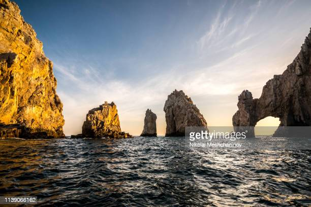 the arch of cabo san lucas - cabo san lucas stock pictures, royalty-free photos & images