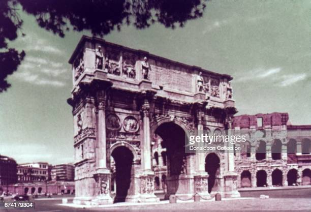 The Arch of Constantine on September 19 1963 in Rome Italy