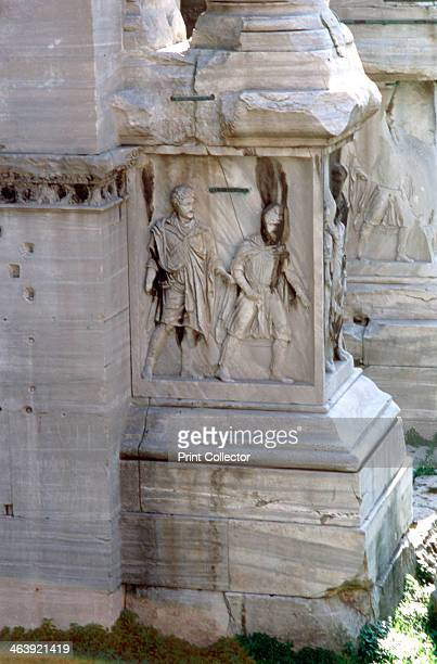 The Arch of Septimus Severus Rome 203 AD Triumphal arch for displaying the military victories of the Roman Emperor Septimus Severus