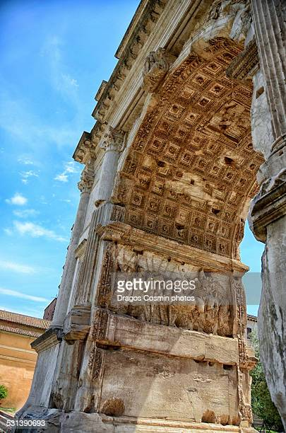 The Arch of Titus at the Forum ruins in Rome