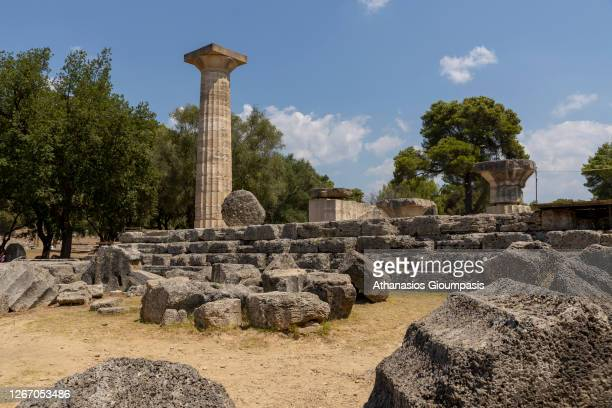 The archaeological place of ancient Olympia, the birthplace of the Olympic Games on August 14, 2020 in Olympia, Greece.
