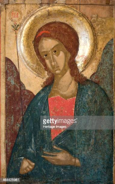 'The Archangel Gabriel' early 15th century Russian icon Found in the collection of the State Russian Museum St Petersburg