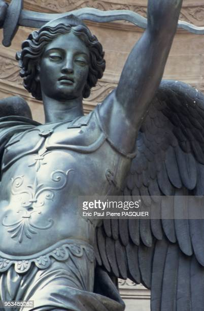 The Archangel Michael at the St Michel fountain in the Latin Quarter