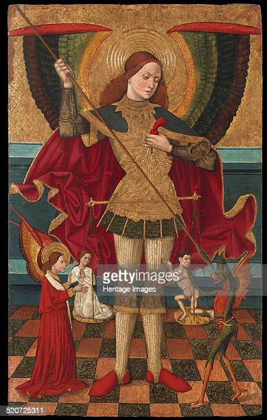 The Archangel Michael weighing the Souls of the Dead Found in the collection of Museu Nacional d'Art de Catalunya Barcelona