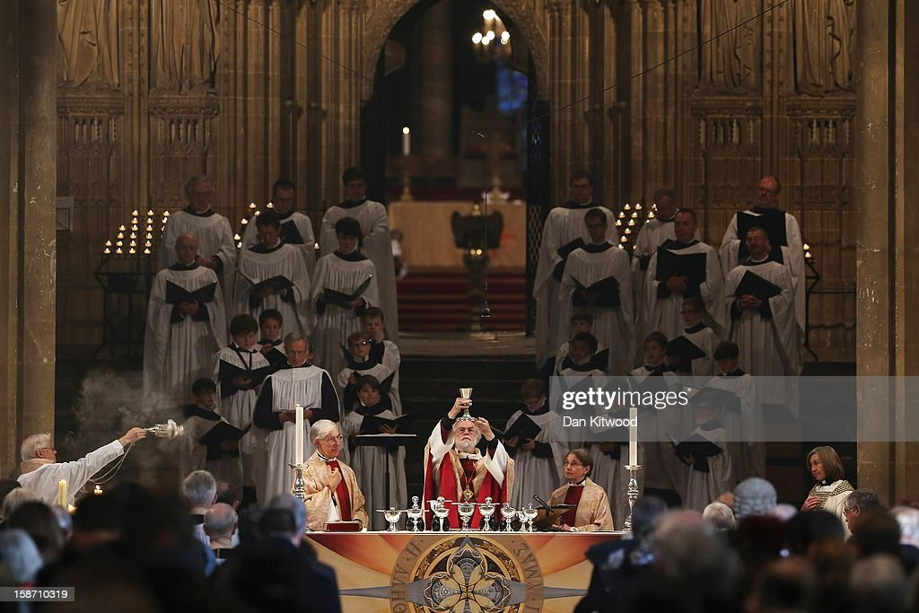 The Outgoing Archbishop Of Canterbury Speaks At The Christmas Eucharist in Canterbury Cathedral