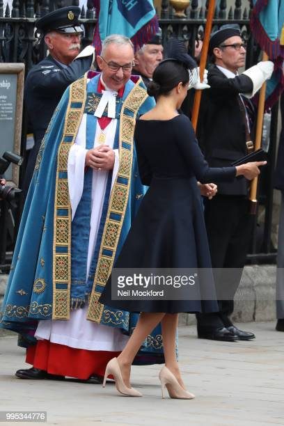 The Archbishop of Canterbury, Justin Welby and Meghan, Duchess of Sussex attend a service at Westminster Abbey to mark the centenary of the Royal Air...