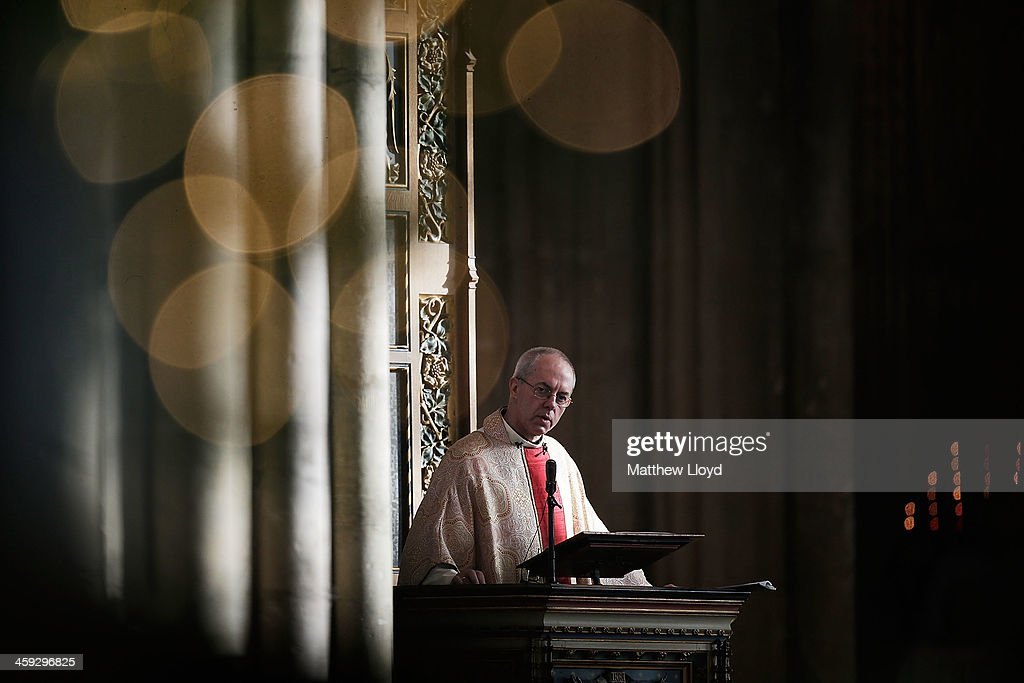 The Archbishop Of Canterbury Gives His First Christmas Day Sermon At Canterbury Cathedral : News Photo