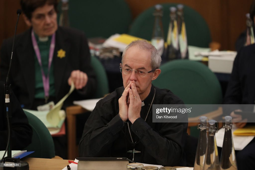 Members Of The Church Of England Synod Vote On Bishop's Gay Marriage Report : News Photo