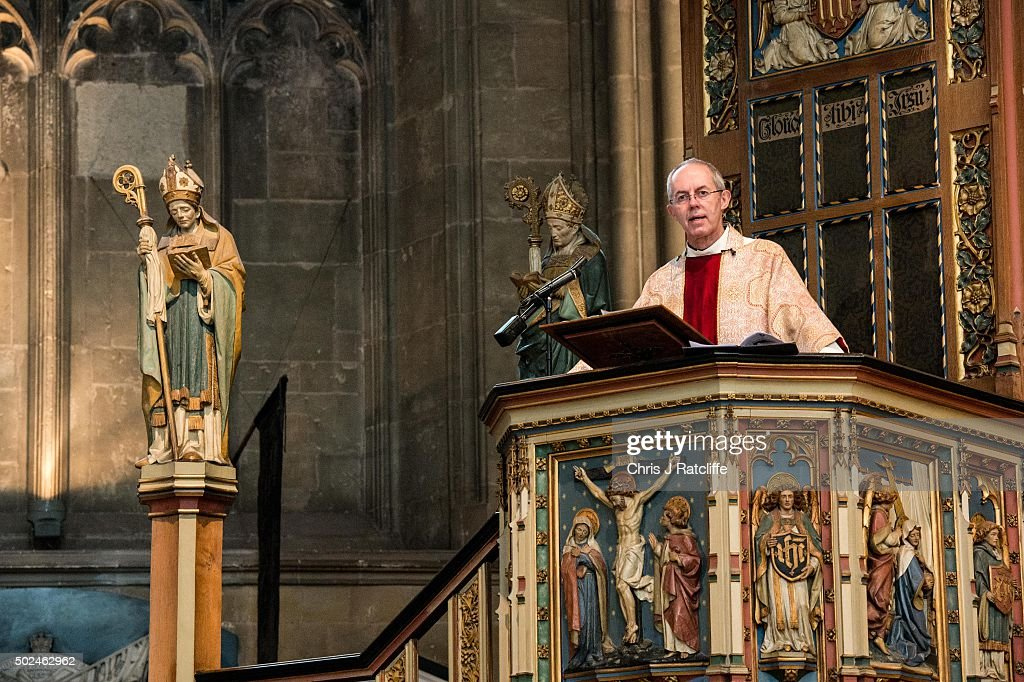 Archbishop Of Canterbury Delivers His Christmas Sermon : News Photo