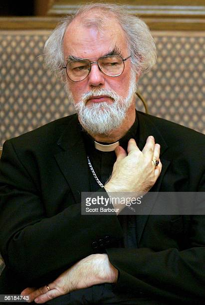 The Archbishop of Canterbury Rowan Williams listens to speakers during day two of the Eighth General Synod of the Church of England on November 16...