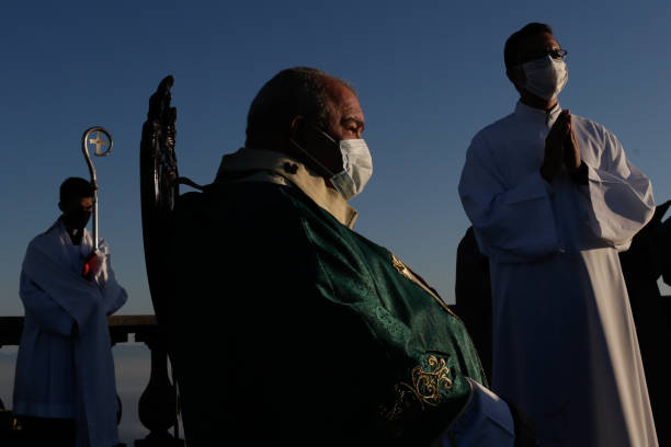 BRA: A Mass is Celebrated on Fathers' Day at the Christ the Redeemer to Pay Homage to the Fatal Victims of COVID - 19