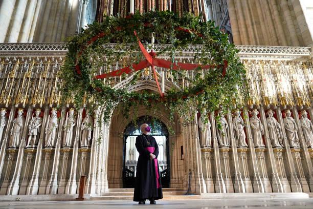 GBR: Advent Wreath Raised At York Minster As A Sign Of Hope