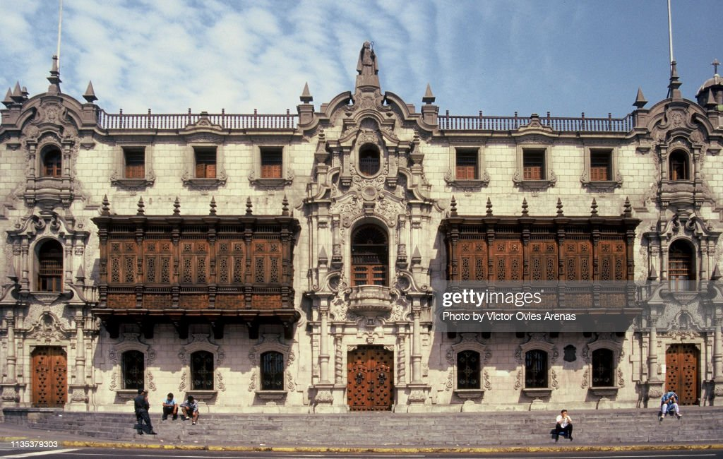 The Archbishop's Palace in Lima, Peru : Foto de stock