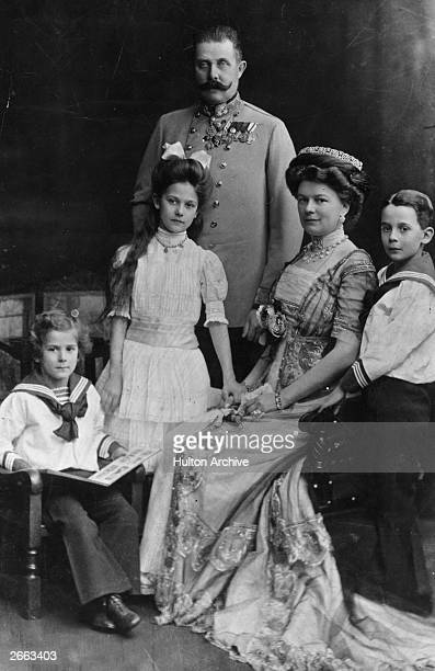 The Archduke of Austria Franz Ferdinand and his family His assassination in Sarajevo precipitated World War I