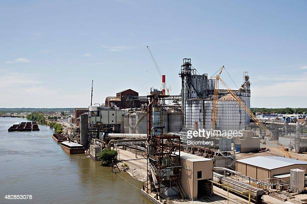 The Archer Daniels Midland Co. Corn processing plant stands in Peoria, Illinois, U.S., on Wednesday, July 29, 2015. Archer Daniels Midland Co. Is...