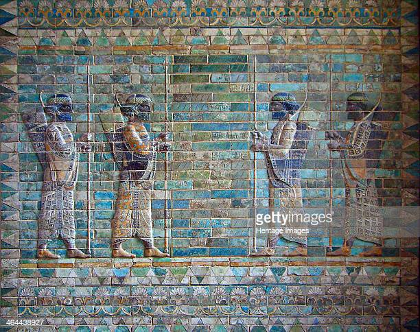 The Archers frieze from Darius I palace at Susa c 510c 500 BC Found in the collection of the Louvre Paris