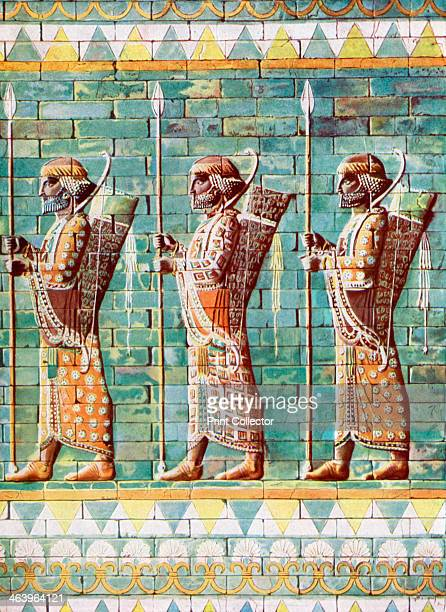 The archers of King Darius Susa Iran 19331934 Enameled tiles From Wonders of the Past volume II 19331934
