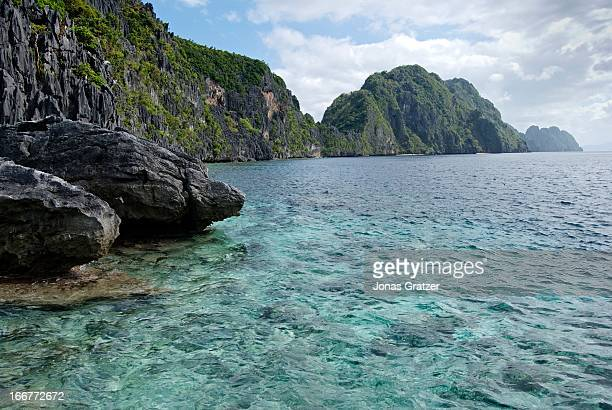 EL NIDO PALAWAN PHILIPPINES The archipelago outside El Nido is composed of wild limestone cliffs lagoons hundreds of islands and a rich marine fauna