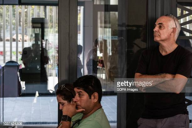 The architect Jaime Coll is seen watching during the hand over event Handing over of 47 public rental houses to new residents by the town hall of...