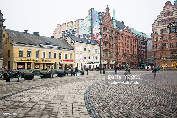 the architecture of malmo, sweden - malmo stock pictures, royalty-free photos & images