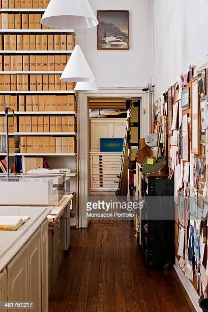 The archive at Achille Castiglioni Studio Museum Milan Italy 2013