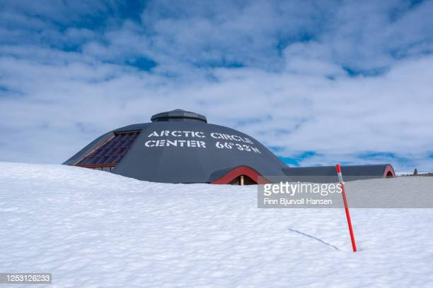 the arctic circle center on saltfjellet - finn bjurvoll stock pictures, royalty-free photos & images