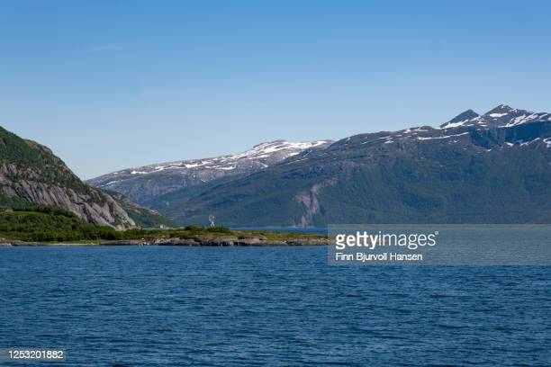the arctic circle monument at helgeland - finn bjurvoll stock pictures, royalty-free photos & images