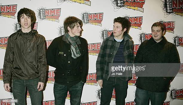 The Arctic Monkeys arrive at the Shockwaves NME Awards 2006 the weekly music magazine's annual awards at which winners are decided by a readers' poll...