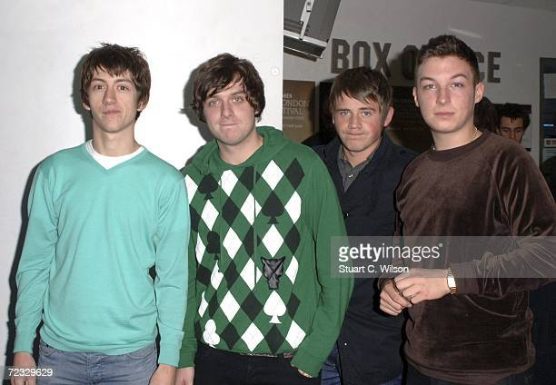 The Arctic Monkeys attend the premiere of the film This Is England as part of The Times BFI 50th London Film Festival at the Odeon West End October...