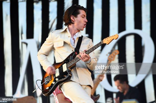The Arctic Monkeys play their headline set on the main stage during day 3 of the 2018 TRNSMT festival at Glasgow Green Glasgow July 1 2018