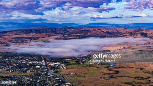 The area covered with morning fog in the Scenic Rim Region, Queensland, Australia